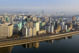 Pyongyang and the River Taedong, Pyongyang, Democratic People's Republic of Korea (DPRK), N. Korea Photographic Print by Gavin Hellier