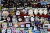 Alarm Clocks of All Different Designs on Market Stall, Aluthgama, Sri Lanka, Asia Photographic Print by Nick Servian