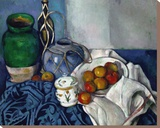 Still Life with Apples, 1893-1894 Stretched Canvas Print by Paul Cézanne