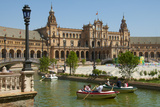 Rowing Boats on Canals, Spanish Pavilion, Plaza de Espana, Seville, Andalusia, Spain, Europe Photographic Print by Guy Thouvenin