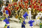 Carnival Parade at the Sambodrome, Rio de Janeiro, Brazil, South America Reproduction photographique par Yadid Levy