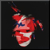 Self-Portrait, c.1986 (red, white and blue camo) Mounted Print by Andy Warhol