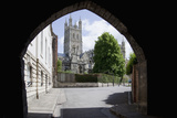 Gloucester Cathedral from the Northwest, Seen from St. Marys Gate, Gloucestershire, England, UK Photographic Print by Nick Servian