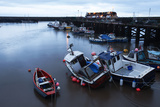 Fishing Boats in the Harbour at Bridlington, East Riding of Yorkshire, Yorkshire, England, UK Lámina fotográfica por Mark Sunderland