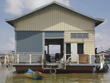 A Floating House, Tonle Sap Lake, Cambodia, Indochina, Southeast Asia, Asia Photographic Print by Charlie Harding