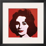 Liz, 1963 (Red) Posters by Andy Warhol