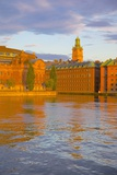 Helgeandsholmen at Sunset, Gamla Stan, Stockholm, Sweden, Scandinavia, Europe Photographic Print by Frank Fell