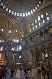 Interior of the Hagia Sophia Museum, UNESCO World Heritage Site, Istanbul, Turkey, Europe, Eurasia Photographic Print by Simon Montgomery