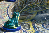 Ceramic Frog Spitting Out Water, Frogs Fountain, Maria Luisa Park, Seville, Andalusia, Spain Photographic Print by Guy Thouvenin