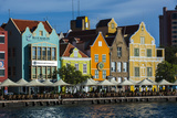The Dutch Houses at Sint Annabaai in Willemstad, UNESCO Site, Curacao, ABC Is, Netherlands Antilles Photographic Print by Michael Runkel