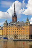 Spire of Riddarholmskyrkan (Riddarholmen Church), Riddarholmen, Stockholm, Sweden Photographic Print by Frank Fell