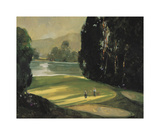 Putt for Par Giclee Print by Ted Goerschner