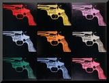 Gun, c.1982 Mounted Print by Andy Warhol