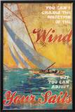 Adjust Your Sails Poster by Dawna Barton