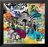 Kaleidoscope (Zebra) Poster by Allen Ben