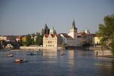 Vltava River and Smetana Museum, Prague, Czech Republic, Europe Photographic Print by Nick Servian