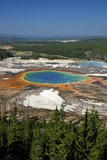 Grand Prismatic Spring, Midway Geyser Basin, Yellowstone Nat'l Park, UNESCO Site, Wyoming, USA Photographic Print by Peter Barritt