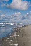 Sandy Beach, Blue Sky and Clouds, Schiermonnikoog, West Frisian Island, The Netherlands (Holland) Photographic Print by Mark Doherty
