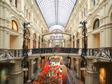 Interior of the Gum Shopping Centre on Red Square, Moscow, Russia, Europe Photographic Print by Vincenzo Lombardo