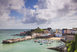 Tenby Harbour, Pembrokeshire, West Wales, Wales, United Kingdom, Europe Lámina fotográfica por Billy Stock