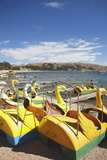 Pedaloes on Beach, Copacabana, Lake Titicaca, Bolivia, South America Photographic Print by Ian Trower