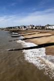 Felixstowe Beach from the Pier, Felixstowe, Suffolk, England, United Kingdom, Europe Reproduction photographique par Mark Sunderland