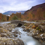 Ashness Bridge with Derwentwater in the Background, Lake District Nat'l Park, Cumbria, England, UK Photographic Print by Ian Egner