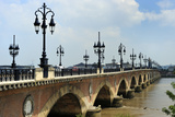 Pont de Pierre on the Garonne River, Bordeaux, UNESCO Site, Gironde, Aquitaine, France Photographic Print by Peter Richardson