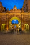 Riksdagshuset at Night, Stockholm, Sweden, Scandinavia, Europe Photographic Print by Frank Fell