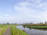 Countryside Cycle Path Along the River Mark, Breda, North Brabant, The Netherlands (Holland) Photographic Print by Mark Doherty