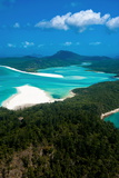 Aerial of Whitehaven in the Whit Sunday Islands, Queensland, Australia, Pacific Photographic Print by Michael Runkel