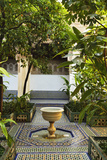 Fountain, Palais de la Bahia, Medina, Marrakesh, Morocco, North Africa, Africa Fotografisk tryk af Jochen Schlenker