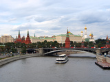Bolshoy Kamenny Bridge and the Kremlin on the Moskva River, Moscow, Russia, Europe Photographic Print by Vincenzo Lombardo