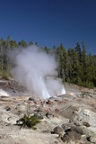Minor Eruption from Steamboat Geyser, Yellowstone Nat'l Pk, UNESCO Site, Wyoming, USA Photographic Print by Peter Barritt