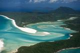 Aerial of Whitehaven in the Whit Sunday Islands, Queensland, Australia, Pacific Fotodruck von Michael Runkel