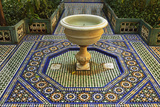 Fountain, Palais de la Bahia, Medina, Marrakesh, Morocco, North Africa, Africa Photographic Print by Jochen Schlenker