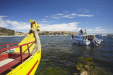 Tourist Boat on Lake Titicaca, Copacabana, Bolivia, South America Photographic Print by Ian Trower