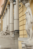Statues and Decorations around Entrance of Szechenyi Baths, City Park, Budapest, Hungary, Europe Photographic Print by Richard Nebesky