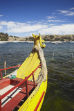 Traditional Style Reed Boat, Copacabana, Lake Titicaca, Bolivia, South America Photographic Print by Ian Trower