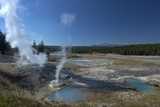 Fumaroles (Steam Vents) in Porcelain Basin, Yellowstone Nat'l Pk, UNESCO Site, USA Photographic Print by Peter Barritt