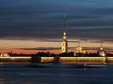 Cathedral of St. Peter and St. Paul at Dusk, St. Petersburg, Russia, Europe Photographic Print by Vincenzo Lombardo
