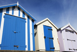 Beach Huts at Felixstowe, Suffolk, England, United Kingdom, Europe Photographic Print by Mark Sunderland