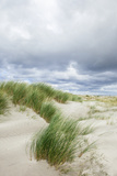 Sand Dunes and Dramatic Sky, Schiermonnikoog, West Frisian Is, Friesland, The Netherlands (Holland) Photographic Print by Mark Doherty