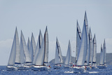 Sailboat Regattas. British Virgin Islands, West Indies, Caribbean, Central America Photographic Print by J P De Manne