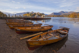 Rowing Boats at Lakeside Landing, Derwentwater, Keswick, Lake District Nat'l Pk, Cumbria, UK Photographic Print by Ian Egner