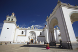 Copacabana Cathedral, Copacabana, Lake Titicaca, Bolivia, South America Photographic Print by Ian Trower