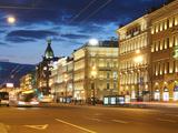 Nevsky Prospekt at Night, St. Petersurg, Russia, Europe Photographic Print by Vincenzo Lombardo