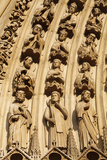 Detail of Sculptures on Arch of the Western Facade, Notre Dame Cathedral, Paris, France, Europe Photographic Print by  Godong