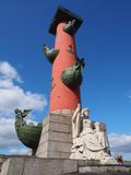 Rostral Column, St. Petersburg, Russia, Europe Photographic Print by Vincenzo Lombardo