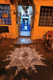 Kollam or Rangoli in Front of the House, Srirangam, Tamil Nadu, India, Asia Photographic Print by Bhaskar Krishnamurthy